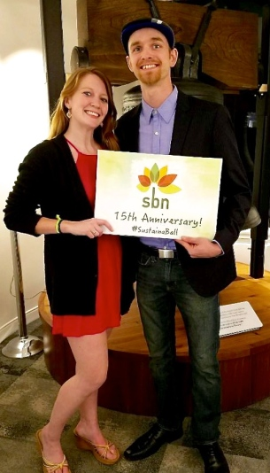 Bri and Casey at the 15th anniversary of the Sustainable Business Network