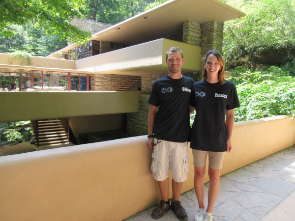 Oliver and Vanessa of Infinity Cleaning, at Fallingwater