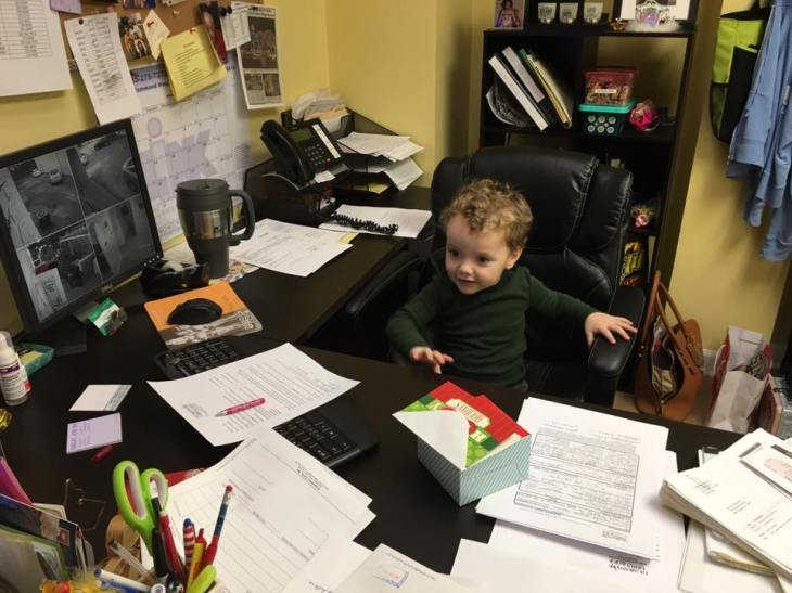 Future CEO, Lauren's son Harrison